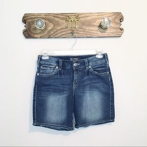 Silver Jeans Suki Mid Short Blue Size 30